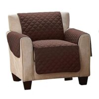 Single Seat Pet Couch Cover Brown.2