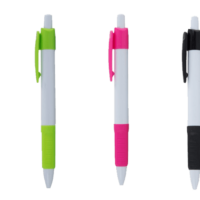 Plastic push button pen pack of 100 printed